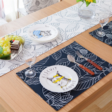 Pastoral cloth table mat stick figure leave cotton wholesale trade placemats insulation pad manufacturers Coasters napkin