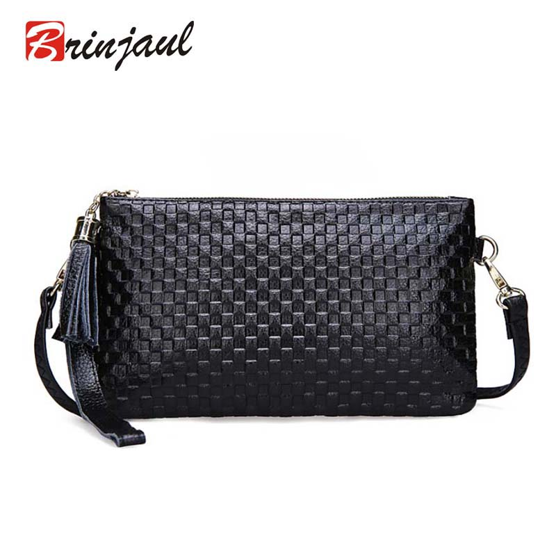 2016 New Arrival Cowhide Plaid Bag Women Genuine Leather Crossbody Bags For Women Tassel Bag Ladies Messenger Day Clutch Famous<br><br>Aliexpress