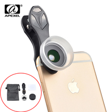 Original APEXEL Super Phone Macro Lens 15X with lens hood for iphone 7 6 plus Huawei Samsung Xiaomi Andriod smartphones