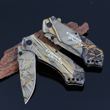 Outdoor Reed Camouflage Folding Knife Wilderness Survival Tools High Hardness Stainless Steel Tactical Hunting Knives