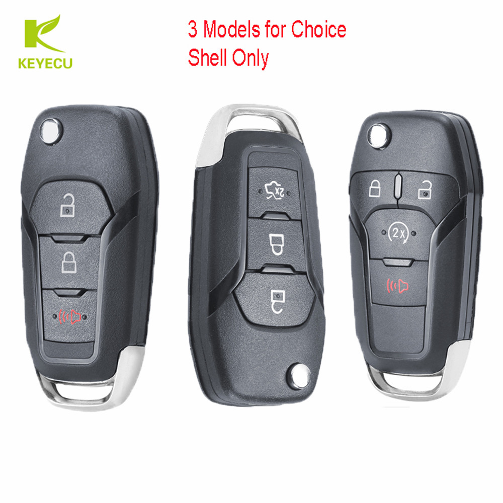 NEW REPLACEMENT CASE SHELL FITS FORD FUSION FLIP KEYLESS REMOTE FOB 164-R7986