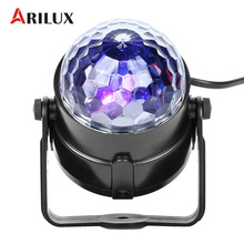 ARILUX 5W Mini RGB LED Stage Light RGBWP Party Disco Club DJ Light Crystal Magic Ball Effect Stage Lighting Lamp AC100-240V(China)