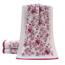 34*74cm Soft Cotton Face Flower Towel Bamboo Fiber Quick Dry Towels