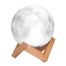 iTimo 3D Moon Night Light Birthday Valentines Gift Table Desk Lamp Magical Moonlight USB Rechargeable Indoor Lighting