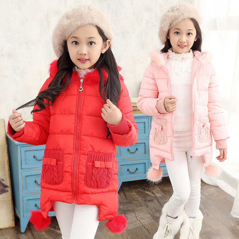Children Down Jacket Girls Long Section Jackets Girl Winter Duck Down &amp; Parkas Kids Winter Outerwear Thicken Warm Clothes B272Одежда и ак�е��уары<br><br><br>Aliexpress