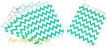 125pcs/lot 5*7 inch Jade Green Chevron Recycle Paper Favor Bags Party Wedding Gift Packaging Supplies