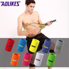 12 Colors 2 Size Gym Yoga Cotton Sweat Wristbands Sport Wrist Brace Support Sweatband For Tennis Badminton Running 1PCS(China)