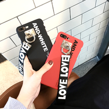 Hepu Net red with the lanyard letter for Apple 6 phone shell iPhone7 / 6s / plus creative personality tide men and women models