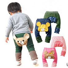 Anlencool Baby Pants Boys girls cartoon print knitted busha brand pp pants elastic waist toddler Leggings Kids Clothes PP pants(China)