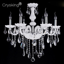 2018 Free Shipping 6 Arms Chandelier Crystal Lustre Light Living Room Luminaria , for Home Bar Cafe Christmas Decor D55cm H60cm