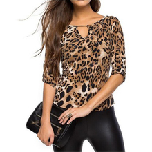 XXL Leopard printed blouse shirt Women half Sleeve tops Femme shirts Casual lady blouses 2017 Summer blusas Mujer