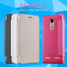 Lenovo K6 Power Cover NILLKIN Sparkle super thin Lenovo K6 Power PU leather case flip cover with Retailed Package(China)