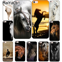 MaiYaCa Horse Animal Printed Soft Cover For iPhone 6 6S Plus 7 7 Plus 8 Plus X 5 5S 4 4S Silicone Rubber Skin Mobile Phone Case(China)