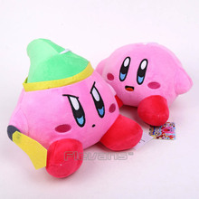 Anime Cartoon Kirby Plush Toys Soft Stuffed Animal Dolls Kids Toys 12cm/18cm 2Styles(China)