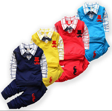 BibiCola New Spring Autumn Baby Boy Clothing Sets Kids Clothes Set Boys High Quality Cotton Long Sleeve t-shirts+pants Tracksuit