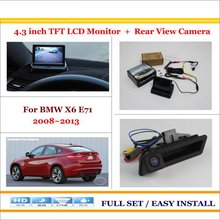 "Car Reverse Backup Rear Camera + 4.3"" TFT LCD Screen Monitor = 2 in 1 Rearview Parking System - For BMW X6 E71 2008~2013"