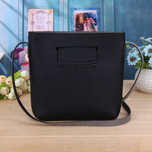 Retro Women Bag PU Leather Simple Pattern Crossbody Shoulder Bag Vintage Mini Barrel Bag Women Leather Handbag Bucket Bag(China)