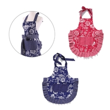 Elegant Cooking Dress Cute Women Bib Pretty Aprons Bundle Kitchen Restaurant(China)