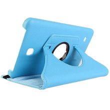 Cases For Samsung Galaxy Tab 4 Tablet SM-T230 SM-T231 360 degree Rotation Housing (blue)