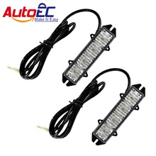 AutoEC 4 LED red/blue car warning strobe emergency light flashing Dash lamp for cars trunck Vehicle #LM42