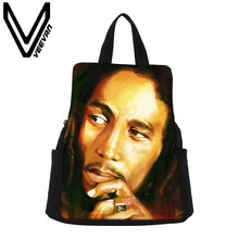 VEEVANV Brand 2017 Bob Marley Image Women Backpack High Quality Canvas School Bags Female Serpentine Prints Drawstring Backpacks