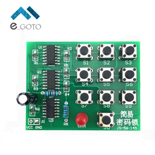 DIY Kits Multi-Functional Coded Lock Suite Simple Electronic Circuit Password Lock Module Training Parts(China)