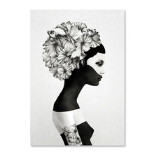 Raybre Art 30 X 40 Cm Oil Painting Flowers Women White And Black Painting House Wall Decoration