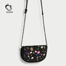 KUJING Fashion Handbags High Quality Women Small Square Bag Hot Woman Shoulder Messenger Bag Luxury Shopping Leisure Women Bag(China)