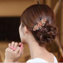 Bling-world Flower Rhinestone Hair Pins Hairpins Clip Hairpin Hair Accessories je6