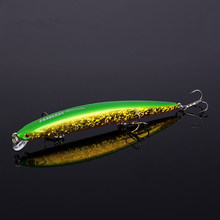 Fishing Lures Wobblers Hard Minnow Crankbait Aritificial Laser Reflective Fishing Tackle With Feather Hooks Pesca Isca Baits(China)