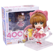 "Cute 4"" Nendoroid Card Captor Cardcaptor Sakura 10cm Boxed PVC Action Figure Set Model Collection Toy Gift #400"