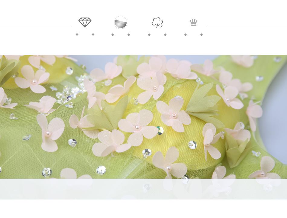Angel Wedding Dress Marriage Bride Bridal Gown Vestido De Noiva 2017Soft powder, Qingjian Lvxian beauty, petals, green 9718 7