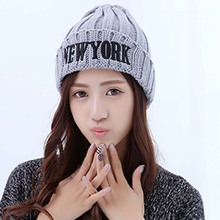 2016 New York Fashion Unisex Soft Beanie Knitting Hat Women Ball Cap Headgear Men Casual Pom Girl Bonnet Accessories(China)