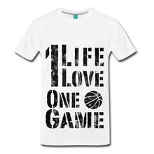 Basketballer One Life One Game Men's T-Shirt Customize Tee Shirts T Shirt Short Sleeve Tops Loose Clothes White Style