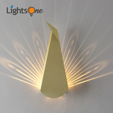Nordic postmodern simple creative wall light living room bedroom bedside decoration led corridor aisle peacock wall lamp