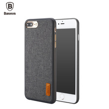 Baseus Phone Bag Case For iPhone 7 / 7 Plus Artistical Simple Stylish Grain Fabric Protective Mobile Phone Back Cover Case(China)