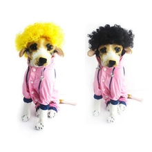 1pc Multi-type Cool Fashion Curly Wig Long Hair Halloween Pet Costume Accessories Charms Sexy Ponytail Curls Pets Decor P15