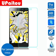 UPaitou Glass For Lenovo Lemon K3 Note Tempered glass Screen Protector Safety Protective film on K3note Music K50-T5 A7000 Plus(China)