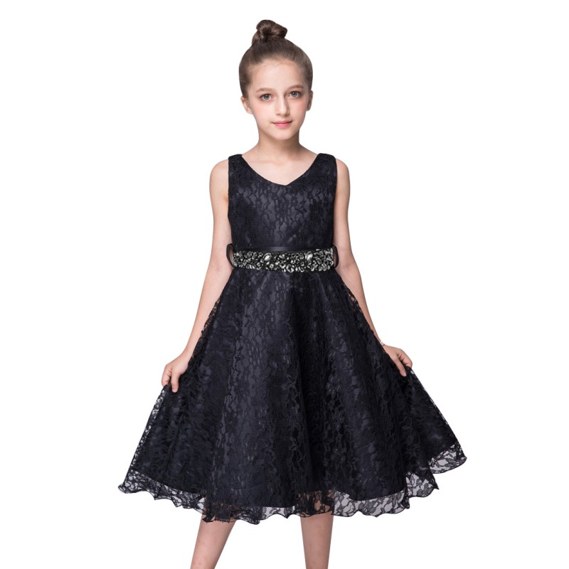 Flower Exquisite 9 Color Girls Dresses Bridesmaid Pageant Birthday Wedding Party Formal Graduation 3-12Y S2<br><br>Aliexpress