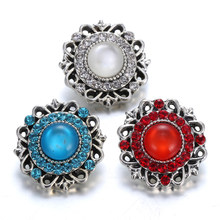 6pcs lot Newest Rhinestone Snap Jewelry Buttons Cat Eyes Snap jewelry For Women  Bracelets  Necklaces Jewelry Gifts 13c99edb8cf0