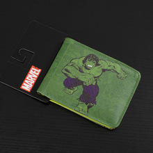 Comics DC Marvel Leather Wallet Men Women Quality Card Holders Cartoon Animation Hulk Purse Dollar Bags Wholesale Price Wallets(China)