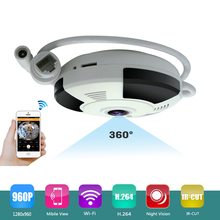 Mini Smart 360 degree Wireless 960P IP VR Camera Wifi Security Home Indoor Monitoring Surveillance Network 1.3 MP 960P Camera(China)
