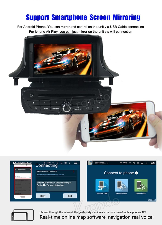 krando android car radio gps for renault megane 3 navigation multimedia system (6)