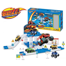 Hot Blaze And The Monster Machines Vehicles Racer Car Truck Parking Lot Kid Xmas Toy