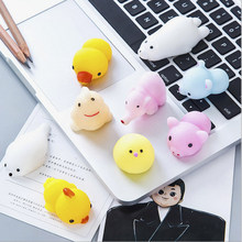 Popular funny desk gifts buy cheap funny desk gifts lots from china wilscoil 10pcs cute silicone soft liitle rabbits funny novelty gag toys easter gifts for family desk decoration z 2030 negle Image collections