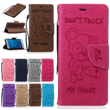 Phone Cases For Huawei P9 P9 Lite Y6 II Y5 2 Y3 ll Mobile Cover Coque Wallet Leather Cool Bear Men Women Accessories Shell Bags