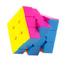 Free Shipping 3x3x3 Magic Cube Strengthened Version 3 Colors Options Six Colors & Black & White Neo Cube Toys For Children Adult