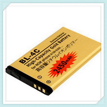 2pcs High capacity 2450mAh BL-4C Li-ion Replacement Battery For Nokia 2652 3108 6100 6170 6260 7270 6101 6102