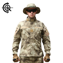 CQB Military Jacket +Pants Outdoor Camouflage Suit Sets Men Hiking Camping Fishing Clothing Training Army Combat Uniform MCTZ015