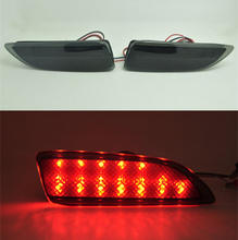 Black Smoke Reflector LED light Guide back Tail Rear Bumper Brake lamp For Toyota corolla 2011